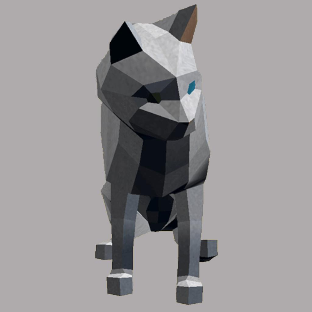 猫のかけっこ